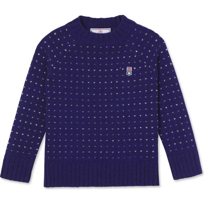 Hunter Birdseye Crewneck Sweater, Blue Ribbon