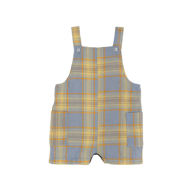 Baby Matteo Overall, Blue Yellow Check