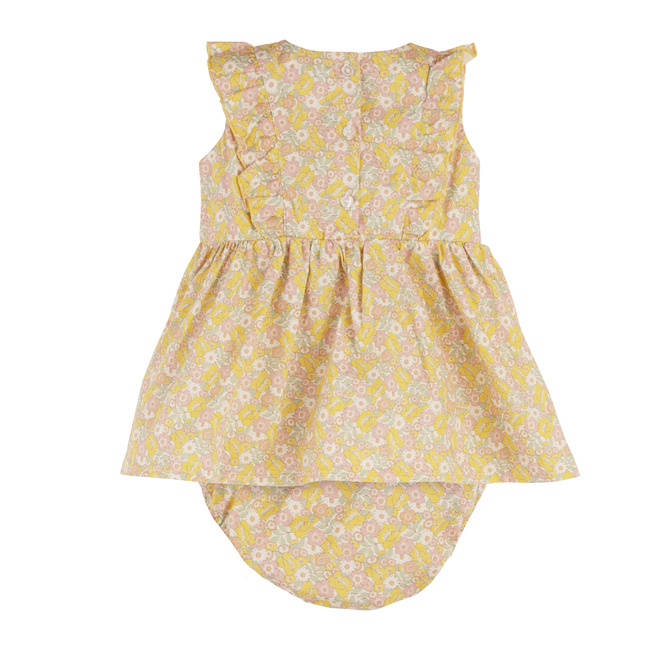Baby Camilla Dress w/ Bloomer, Cluster Floral