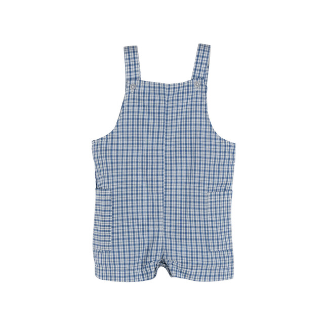 Baby Matteo Overall, Blue Check