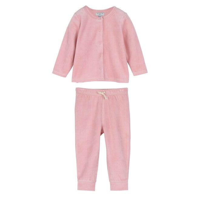 Baby Sky Velour Set, Light Pink