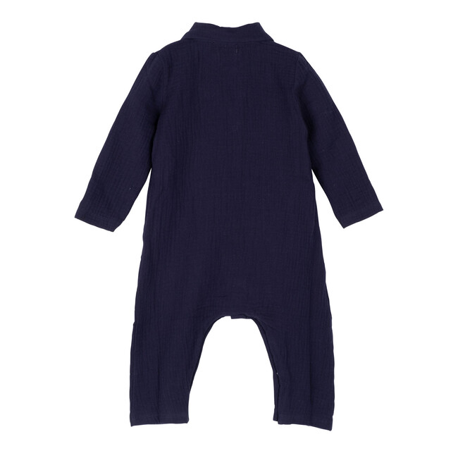 Baby Tristan Muslin Coverall, Navy