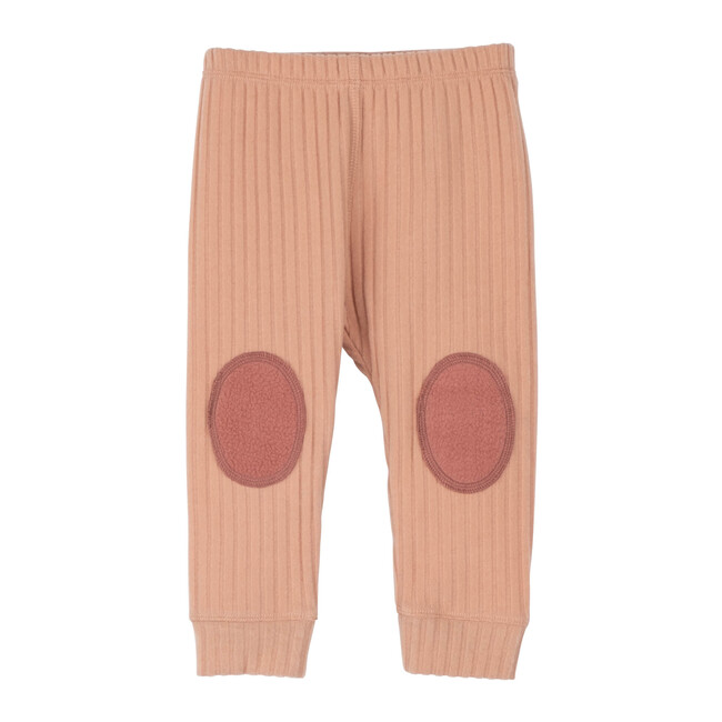 Baby Shia Legging with Knee Patch, Dusty Pink