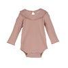 Baby Elsie Ruffle Neck Bodysuit, Pink - Onesies - 1 - thumbnail