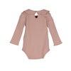 Baby Elsie Ruffle Neck Bodysuit, Pink - Onesies - 2