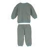 Baby Fuzzy Jones Sweat Set, Dusty Blue & Tan Stripe - Mixed Apparel Set - 3