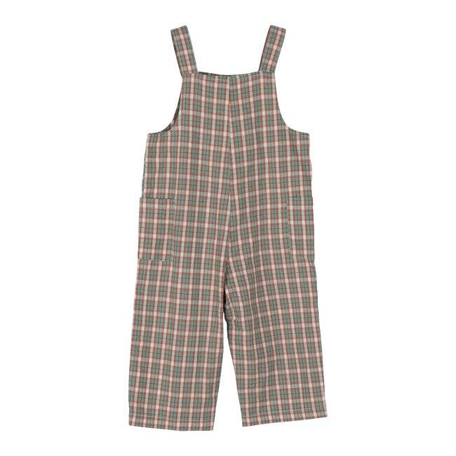 Baby Mattias Overall, Green & Red Check
