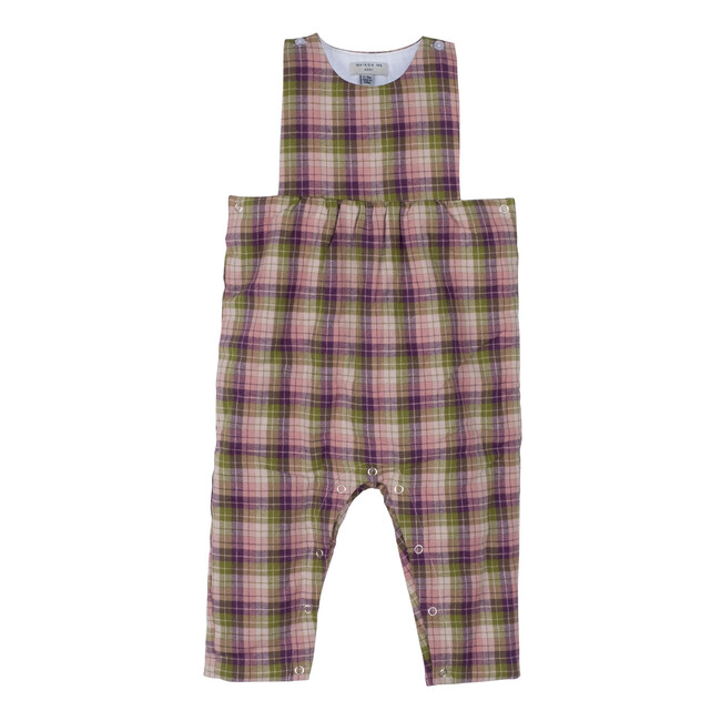 Baby London Coverall, Green & Purple Plaid