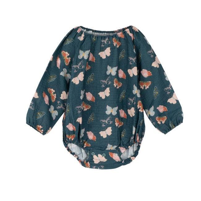 Baby Leila Long Sleeve Bubble, Mediterreanea Butterflies