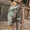 Baby Fuzzy Jones Sweat Set, Dusty Blue & Tan Stripe - Mixed Apparel Set - 6