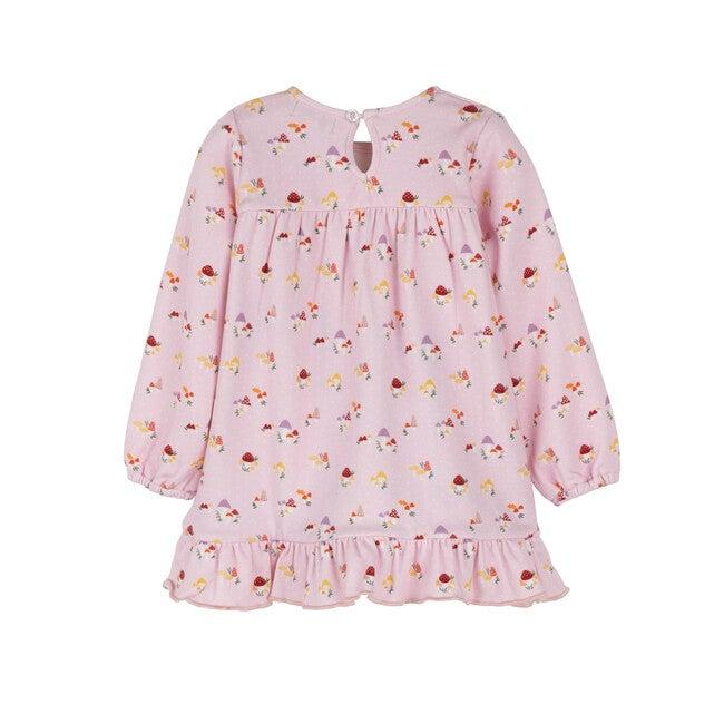 Baby Deja Jersey Dress, Lilac Snow Mushrooms
