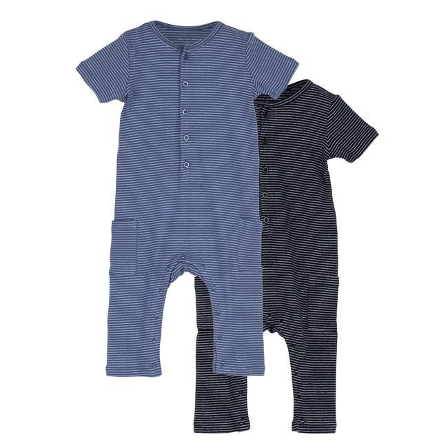 Baby Wilson Coverall Duo, Blue Multi - Onesies - 1