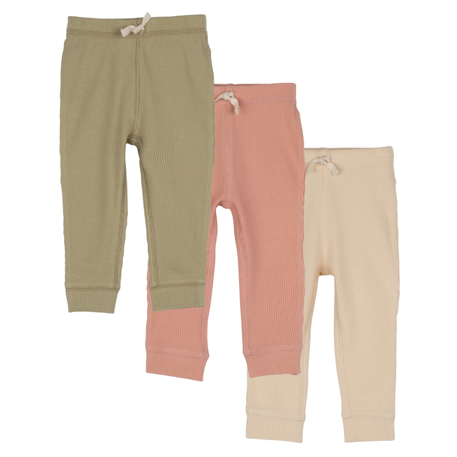 Baby Wesley Jogger Pant Trio, Dusty Multi