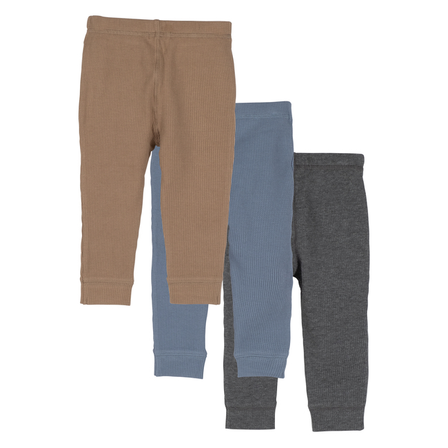 Baby Wesley Jogger Pant Trio, Fall Multi