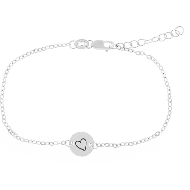 Sterling Silver Perfectly Imperfect Heart Chain Bracelet