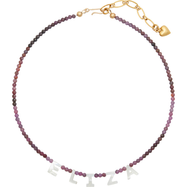 Monogrammable Say My Name Necklace, Purple