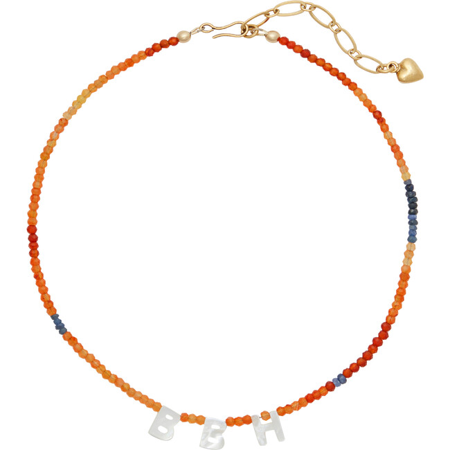 Monogrammable Say My Name Necklace, Orange