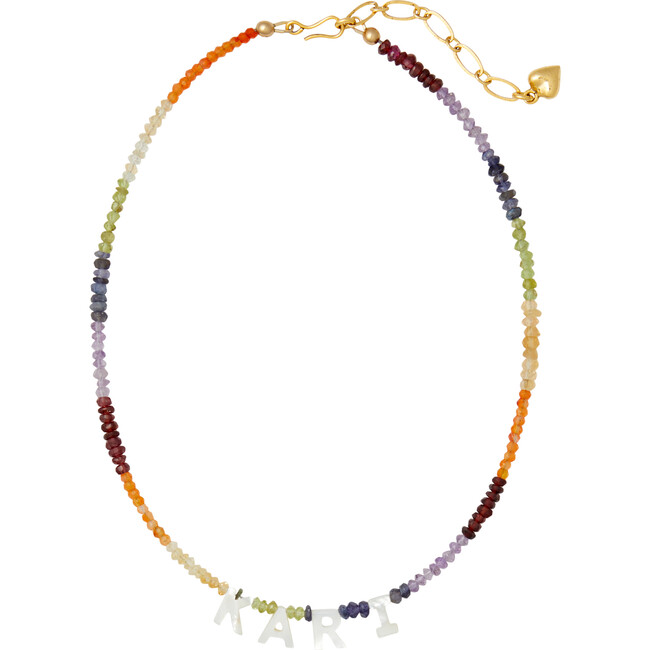 Say My Name Necklace, Rainbow Ombre
