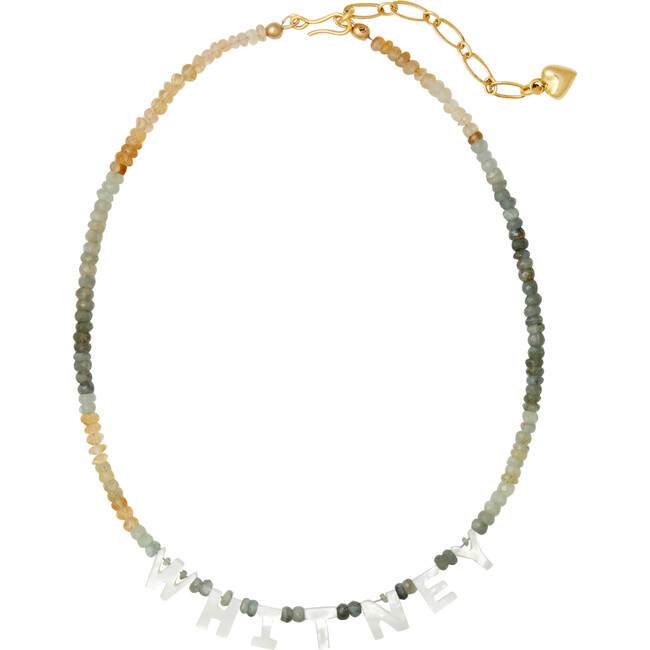 Say My Name Necklace, Beryl Ombre - Necklaces - 1