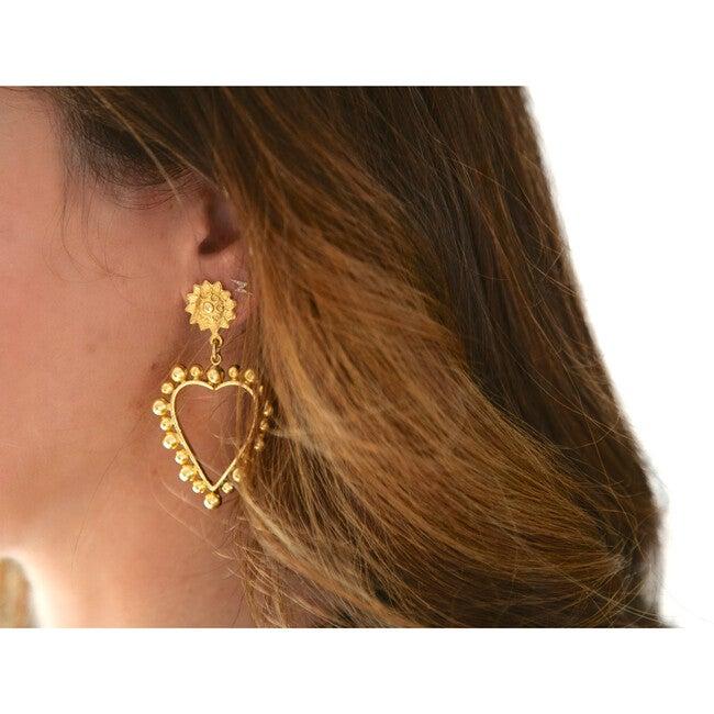 Heart Of Gold Earrings, Gold