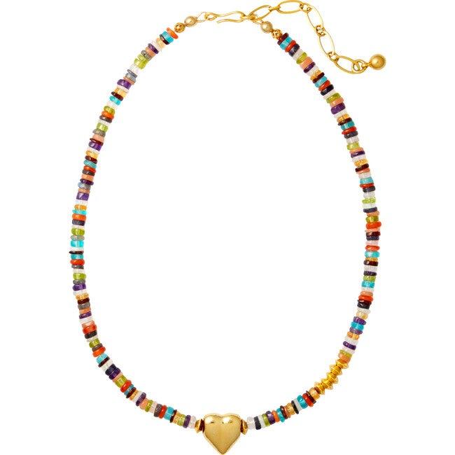 Confetti Necklace, Gemstone Multi