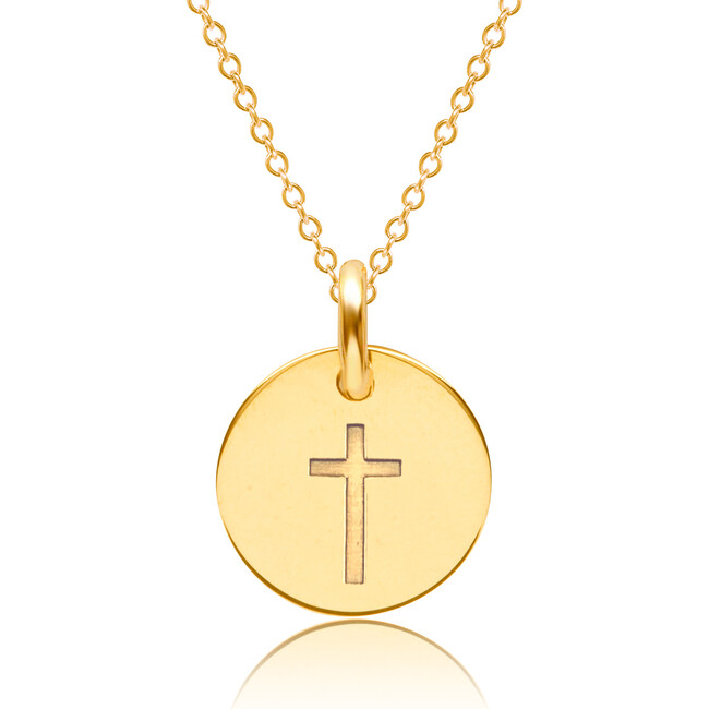 Gold Dainty Cross Necklace