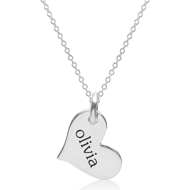 Engravable Sterling Silver Heart Necklace