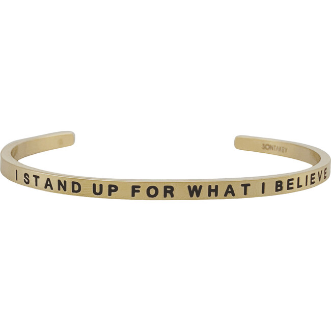 """Youth """"I Stand Up For What I Believe"""" Bracelet, Gold"""