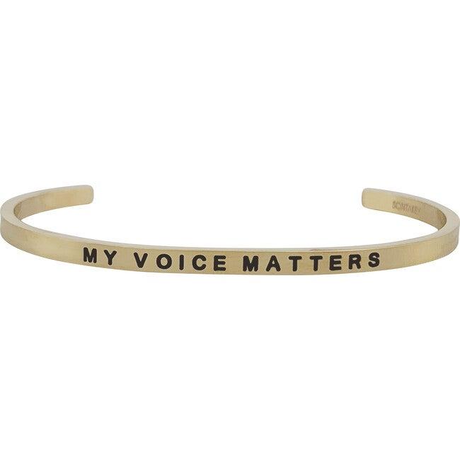 """Baby & Child """"My Voice Matters"""" Bracelet, Gold - Bracelets - 1"""