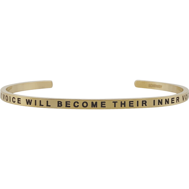 """Women's """"My Voice Will Become Their Inner Voice"""" Bracelet, Gold"""