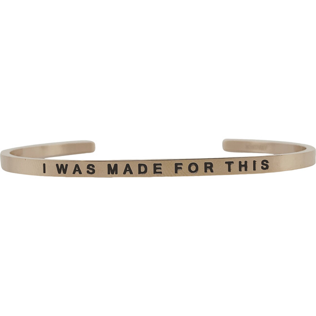 """Women's """"I Was Made For This"""" Bracelet, Rose Gold"""