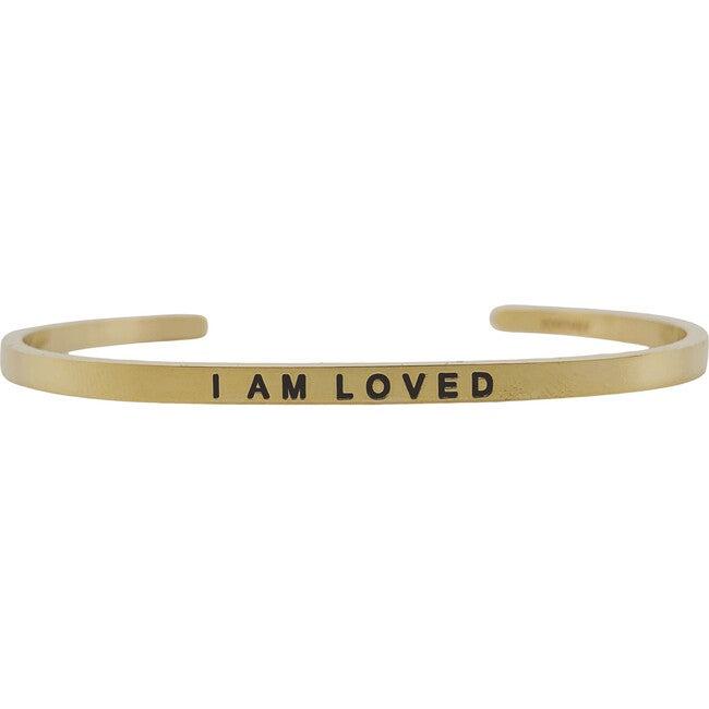 """Women's """"I Am Loved"""" Bracelet, Gold"""