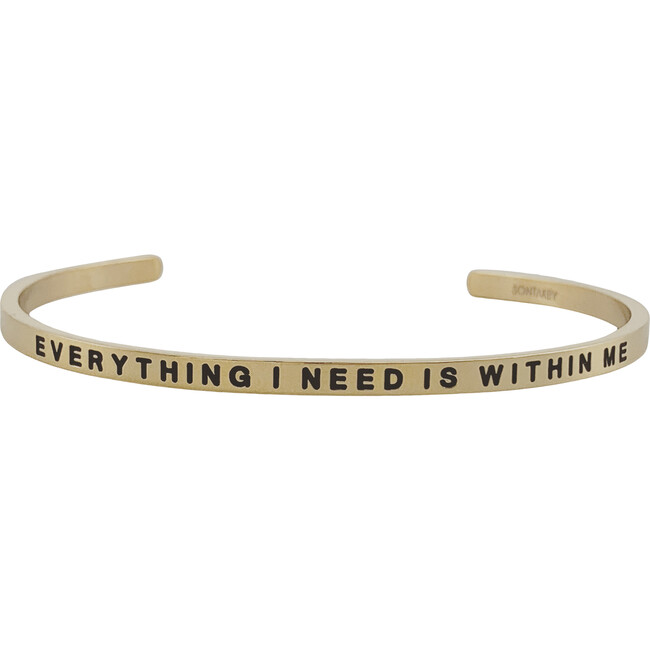 "Women's ""Everything I Need is Within Me "" Bracelet, Gold - Bracelets - 1"