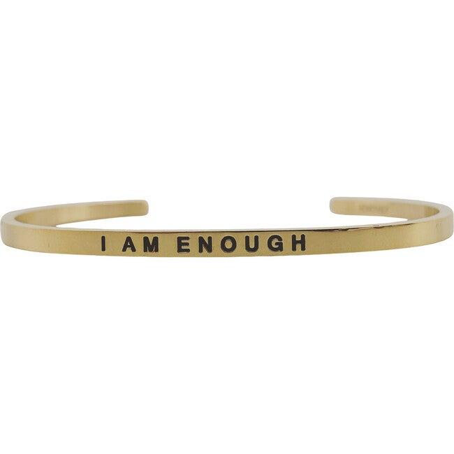 "Women's ""I Am Enough"" Bracelet, Gold"