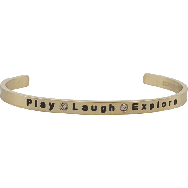 """Baby & Child """"Play, Laugh, Explore"""" Bracelet, Gold - Bracelets - 1"""