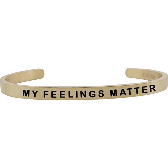 """Baby & Child """"My Feelings Matter"""" Bracelet, Gold"""