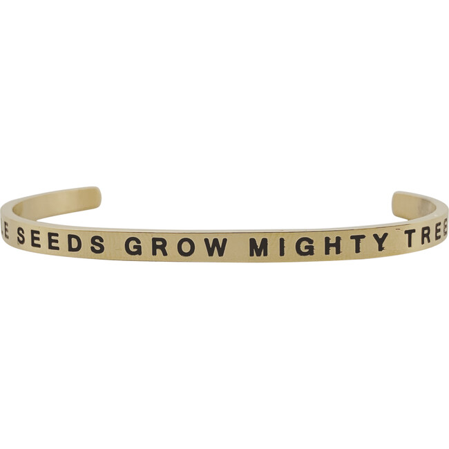 """Baby & Child """"Little Seeds Grow Mighty Trees"""" Bracelet, Gold"""