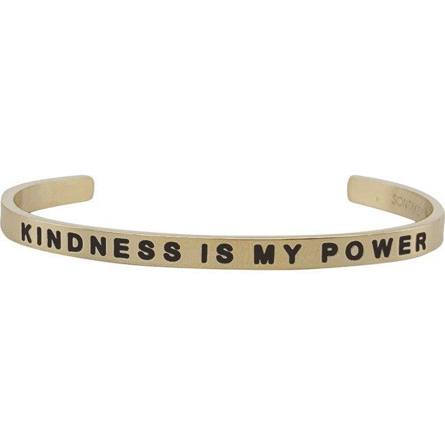"Baby & Child ""Kindness Is My Power"" Bracelet, Gold"