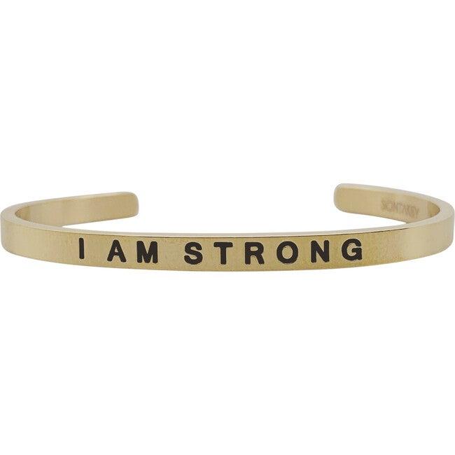 "Baby & Child ""I Am Strong"" Bracelet, Gold"