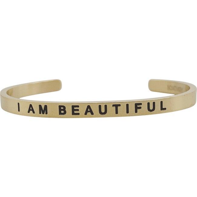 """Baby & Child """"I Am Beautiful"""" Bracelet, Gold"""