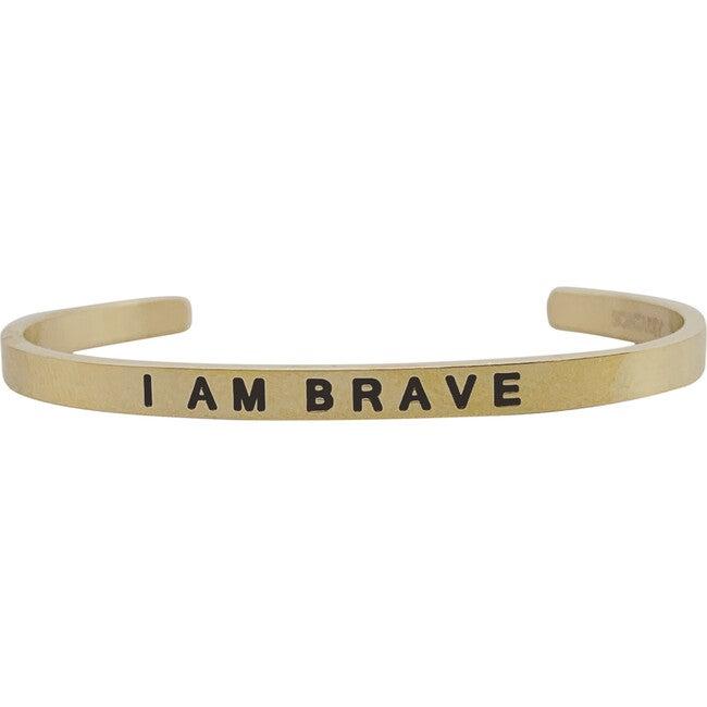 """Baby & Child """"I Am Brave"""" Bracelet, Gold"""
