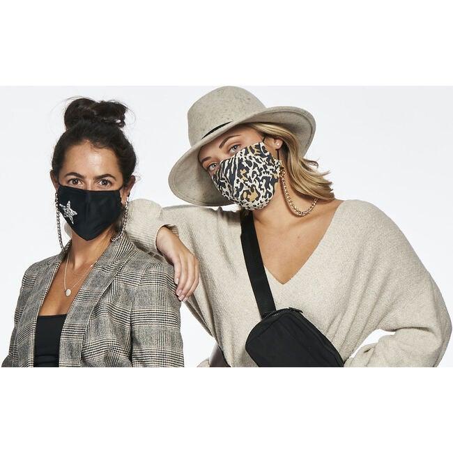 Nikki Mini Face Mask Chain Strap, Gold