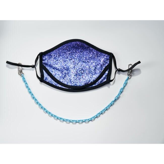 Dylan Kids & Adult Face Mask Chain Strap, Light Blue