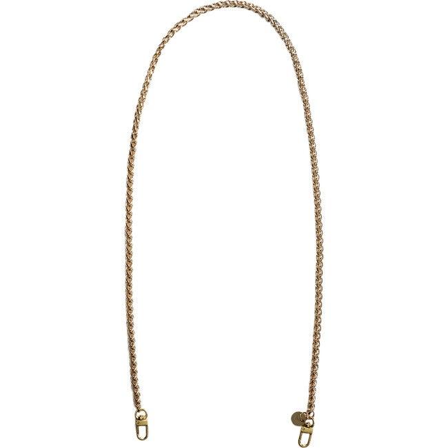 Nikki Long Face Mask Chain Strap, Gold