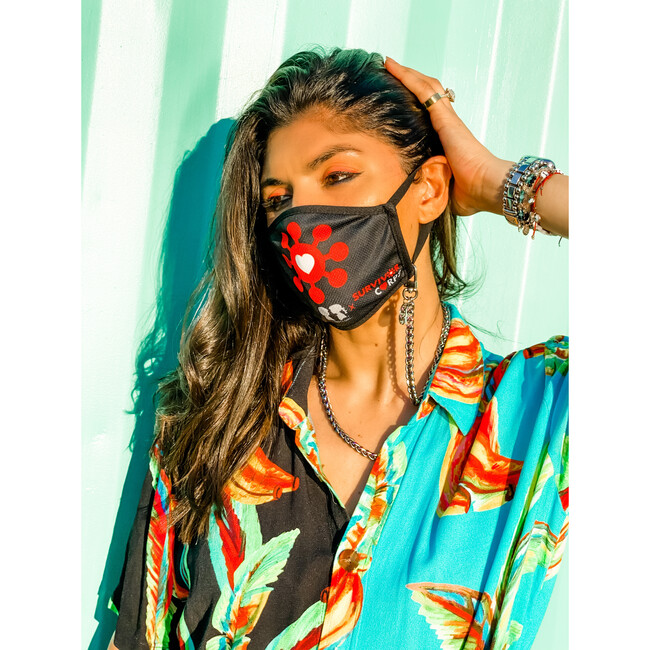 Nikki Long Face Mask Chain Strap, Silver