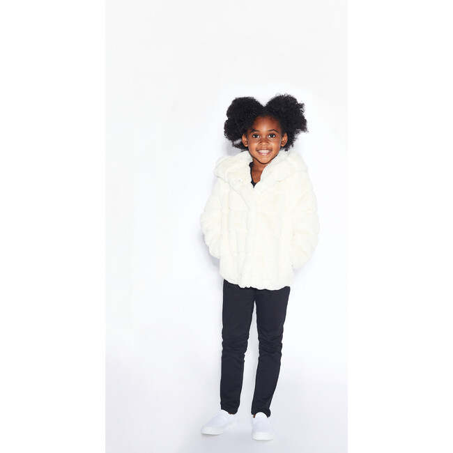Goldie Faux Fur Jacket, Ivory