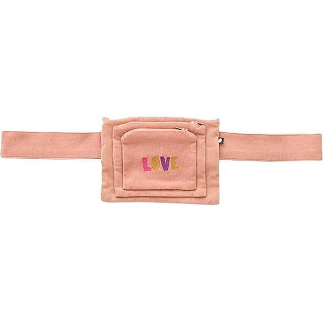 Embroidered Change Purse With Belt Canyon Sunset, Pink