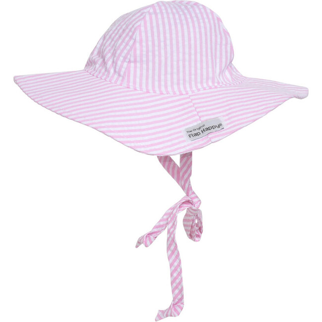Floppy Hat 2 Pack, White Eyelet & Pink Stripe Seersucker