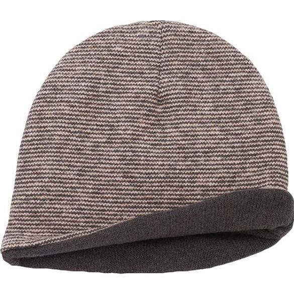 Megeve Reversible Hat With Thin Stripes, Pink