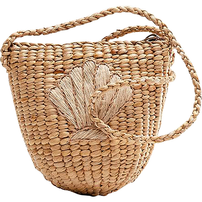 Shell Handwoven Tote, Nude - Bags - 1
